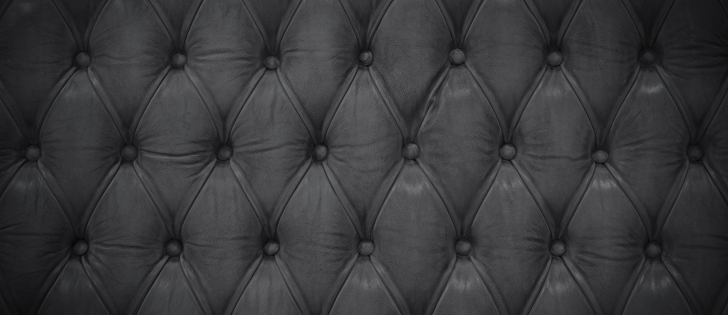 Tufted black upholstery and bedding fabric